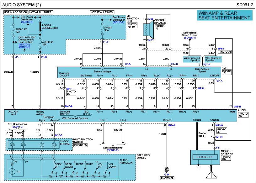 2008 Hyundai Santa Fe Wiring Diagram