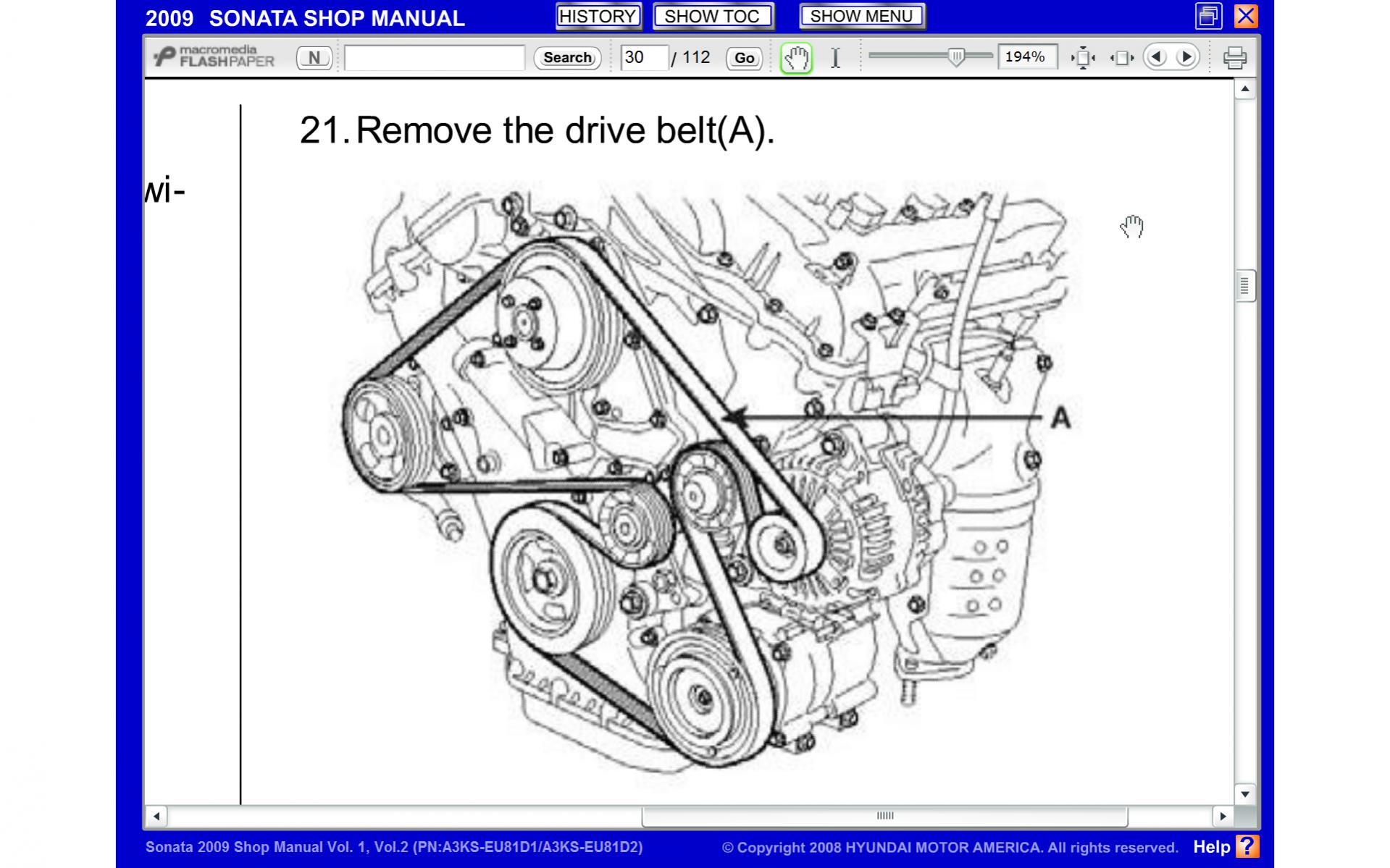 2009 Sonota serpentine belt diagram | Hyundai ForumsHyundai Forums