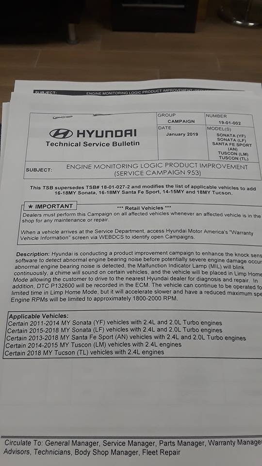 Recall 935 available today 12/10 | Page 3 | Hyundai Forums