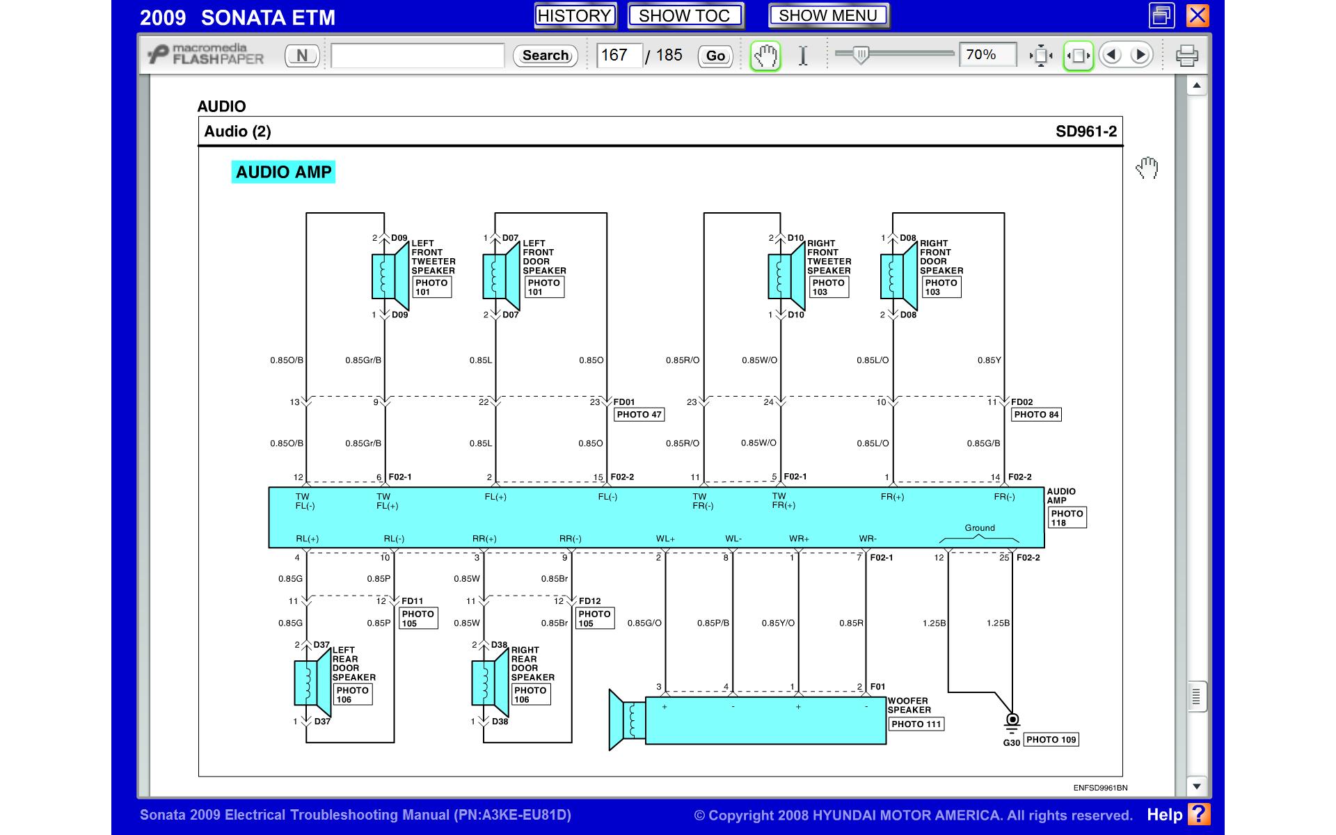 2009 Hyundai Sonata Radio Colored Wiring Diagram Hyundai Forums