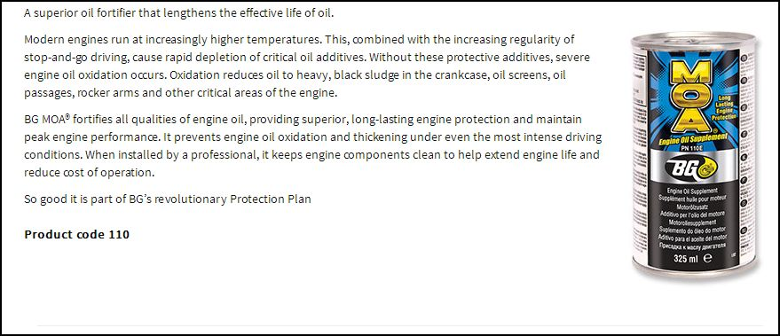 MOA engine oil additive   Hyundai Forums