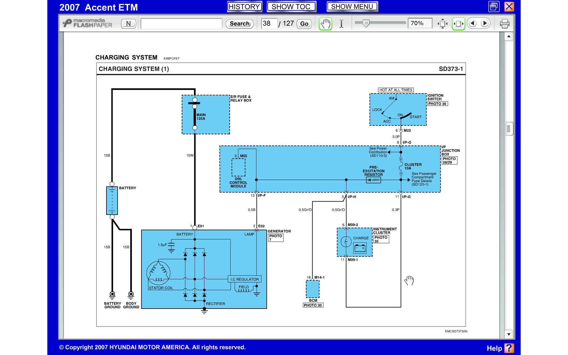 Charging System Problems | Hyundai Forums | Hyundai Alternator Wiring Diagram |  | Hyundai Forums