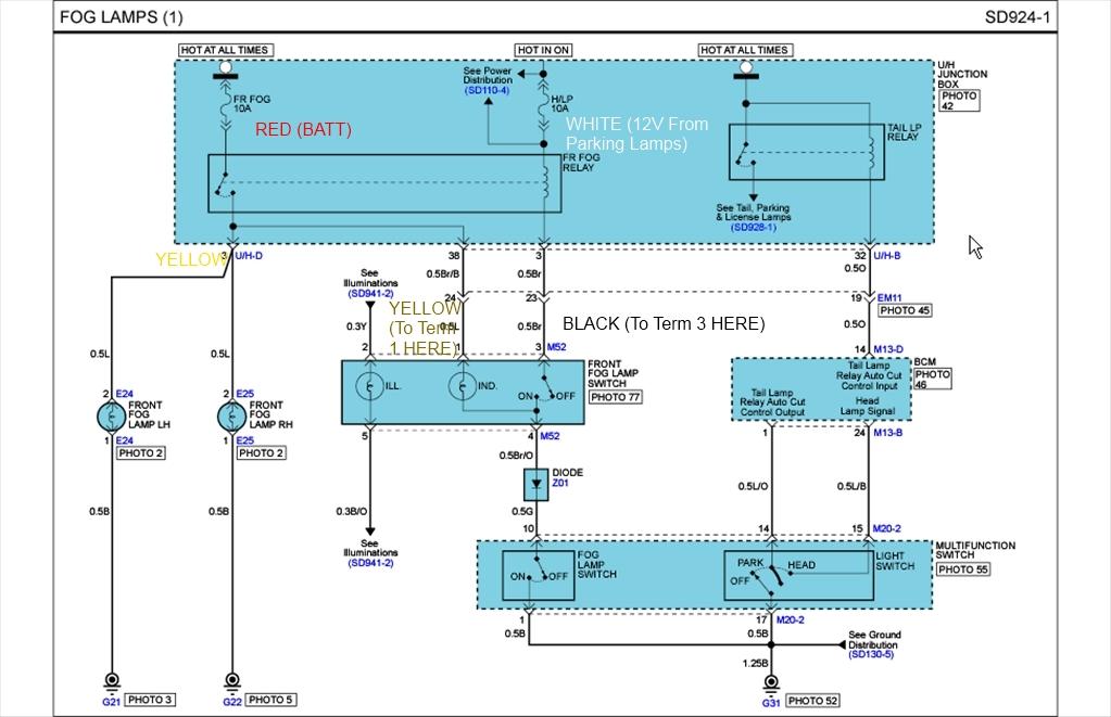 Oem Fog Light Switch Wiring Diagram? | Hyundai Forums | Hyundai Accent Fog Light Wiring Diagram |  | Hyundai Forums
