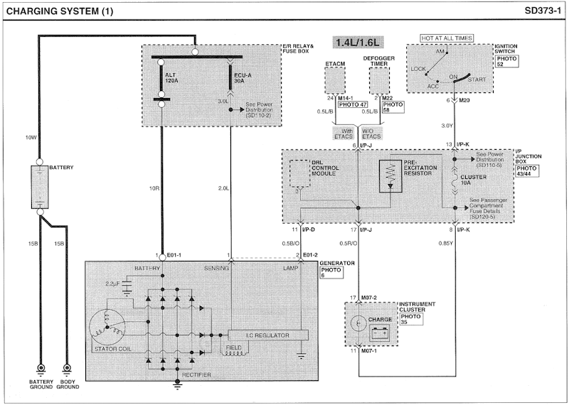Intermittent Battery Light, 1.6L 2009 Getz | Hyundai Forums | Hyundai Alternator Wiring Diagram |  | Hyundai Forums