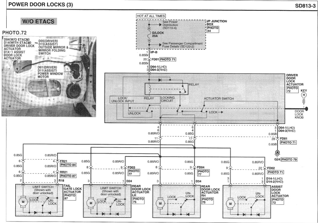 Hyundai Getz Power Window Wiring Diagram