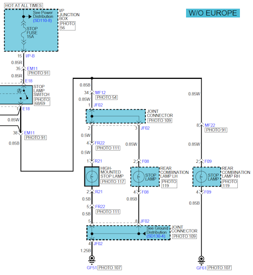 Brake light problem | Hyundai Forums | Hyundai Accent Tail Light Wiring Diagram |  | Hyundai Forums
