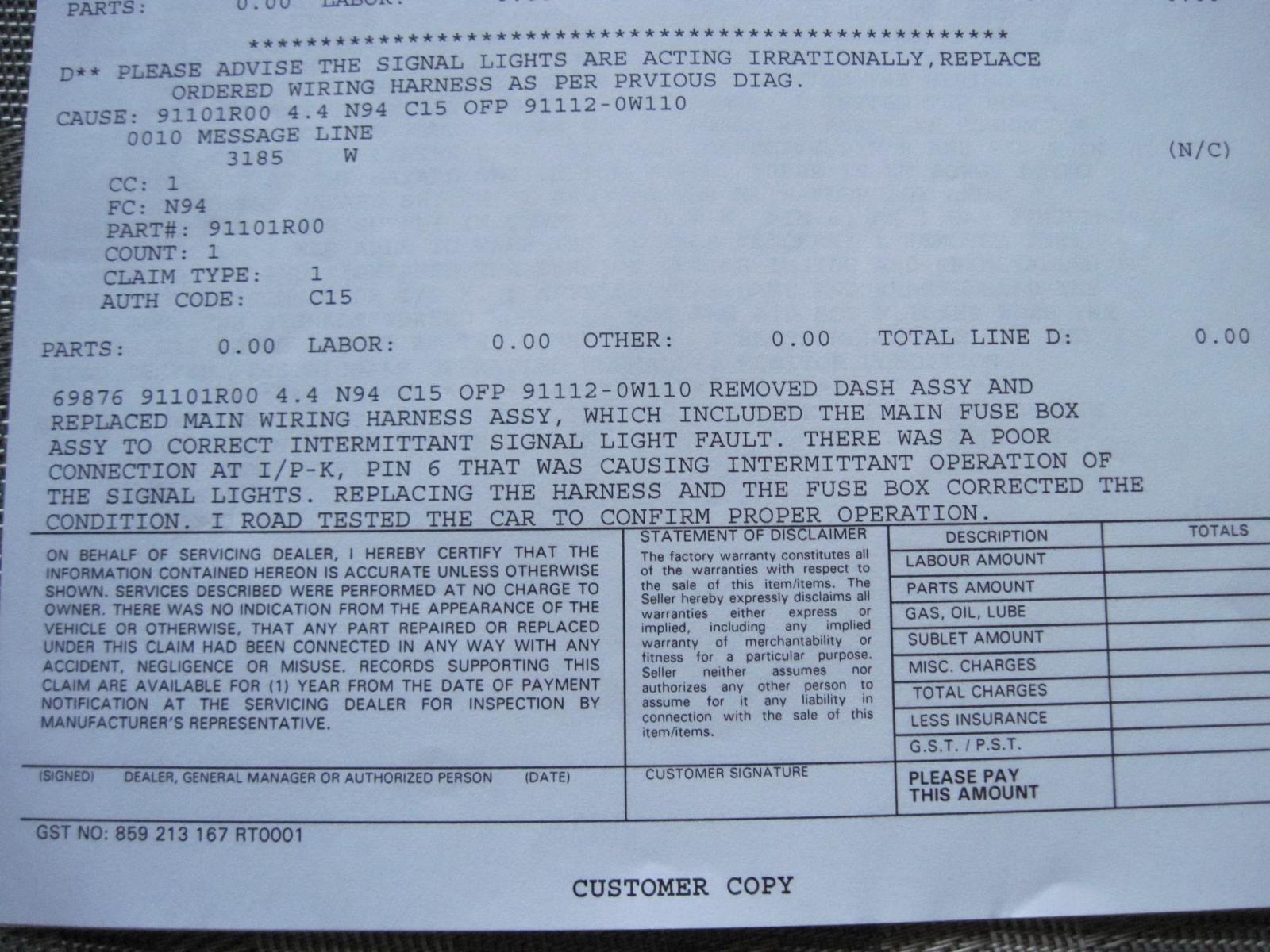 2007 Santa Fe - Turn Signal is Acting Up | Hyundai Forums