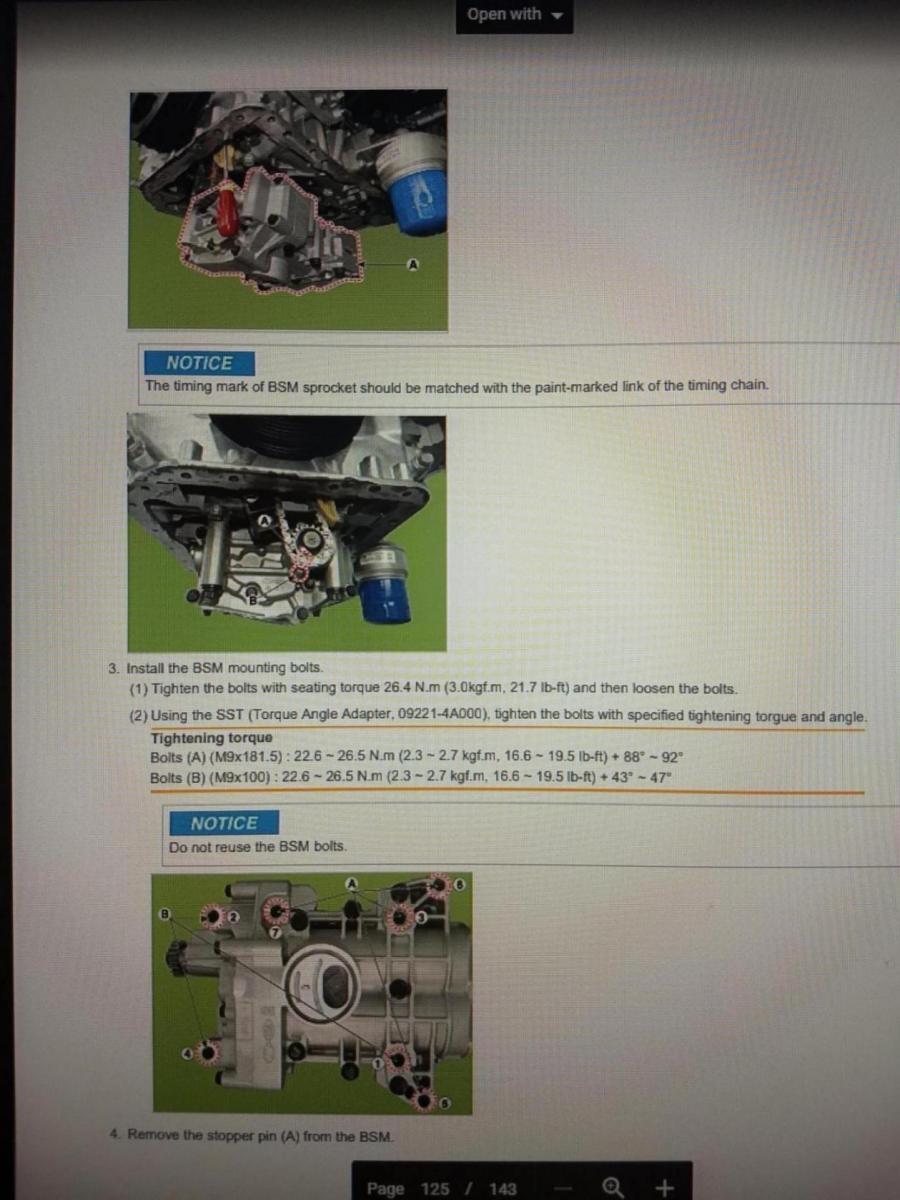 BSM (Balance Shaft Module) and oil flow  | Hyundai Forums