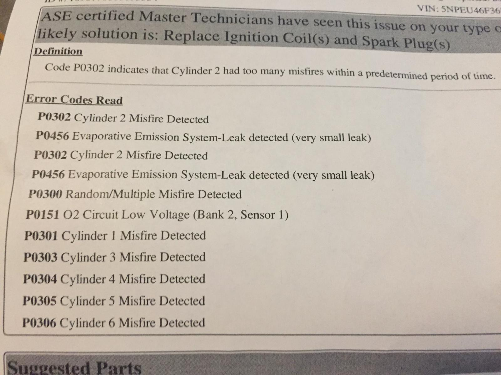 P0300 Multiple Misfires 2009 Sonata 3 3l Help! | Hyundai Forums