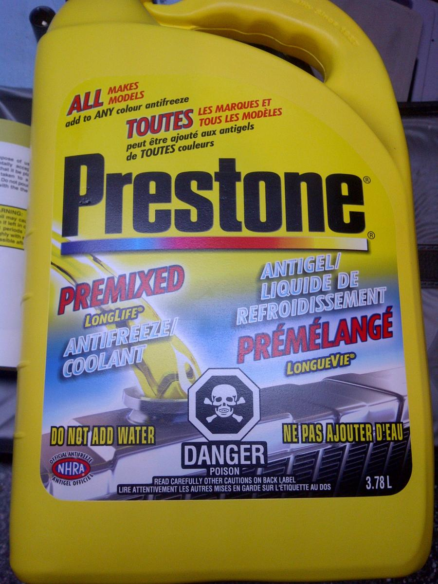 According To Hyundai Owners Manual Prestone Coolant Is OK