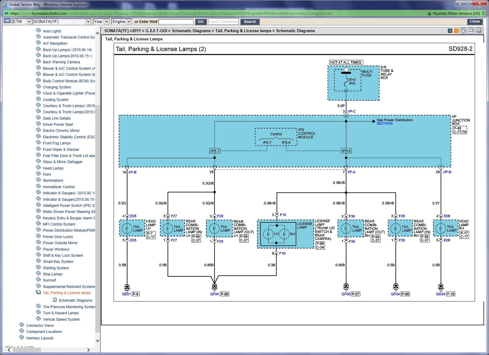 Hyundai Accent Tail Light Wiring Diagram - Wiring Diagram