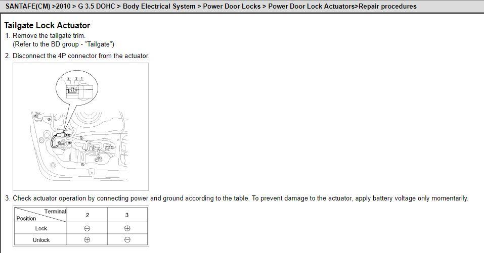 Wiring door lock actuator | Hyundai Forums