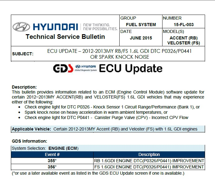 2012 Accent 1 6L GDI Engine Rattle/Knock/Buzz | Page 2 | Hyundai Forums