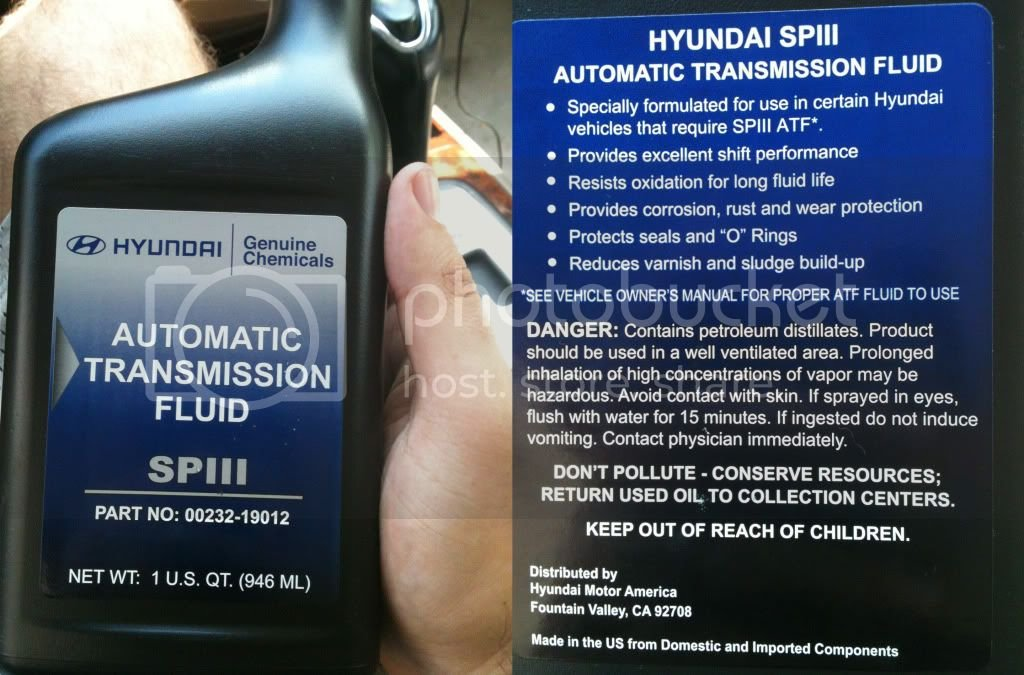 Automatic Transmission Fluid Type | Page 2 | Hyundai Forums