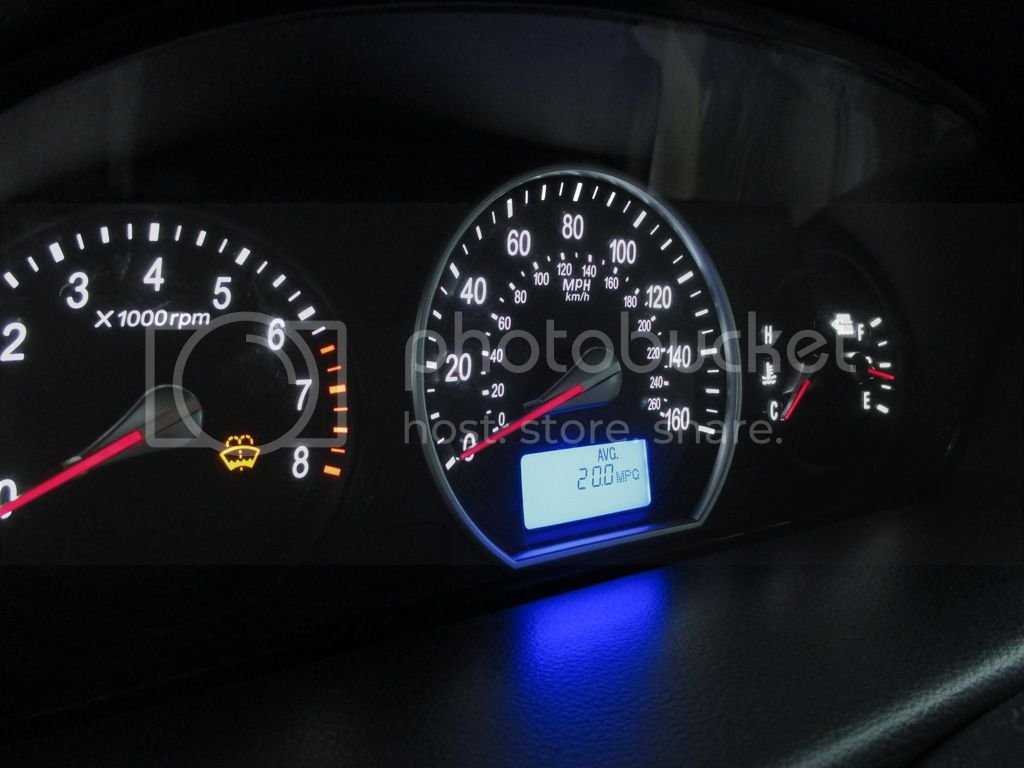 06-07 NF Sonata Gauge Cluster LED Swap (Write Up) + Gauge