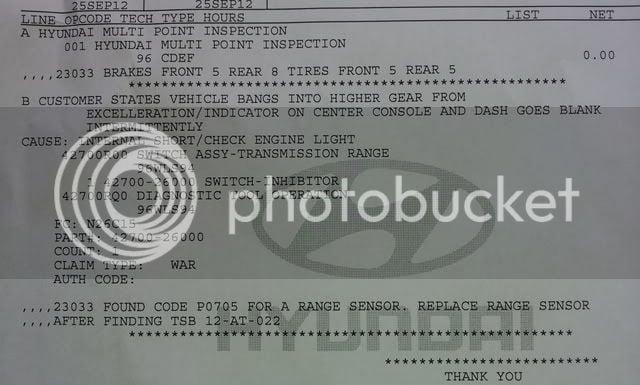 Hyundai Check Engine Light