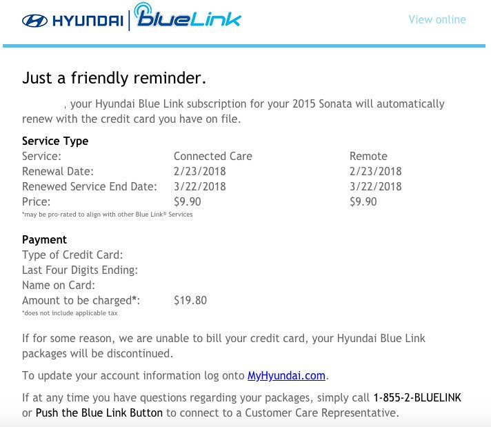 BlueLink Promo Code Frustrations | Hyundai Forums