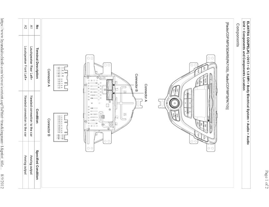 2013 Coupe - Radio Wiring Diagrams/Question | Hyundai Forums on