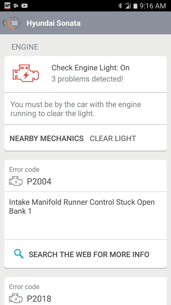 Engine Light On Code P2004, P2018, P200A | Hyundai Forums