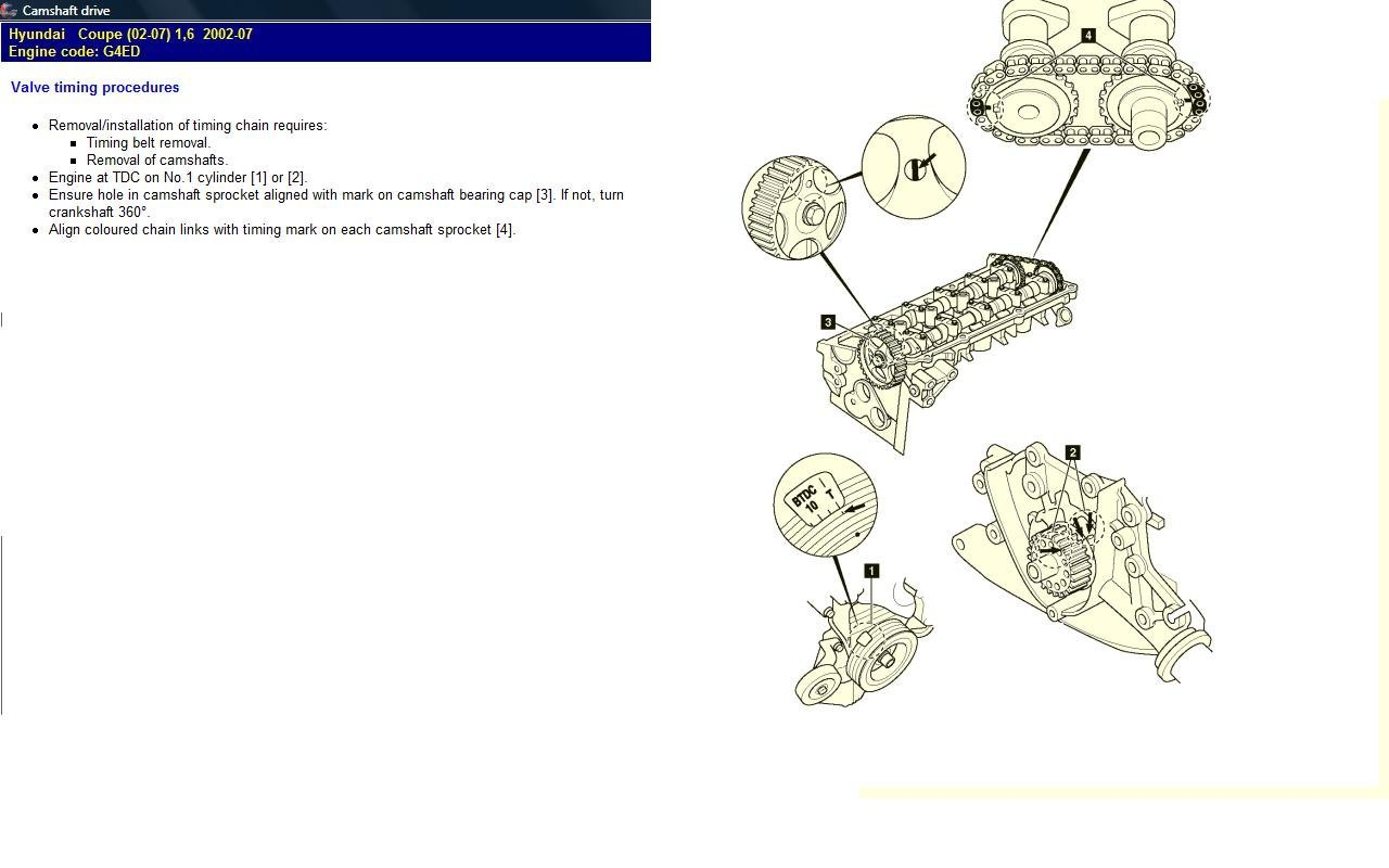 G4ED Camshaft Chain | Hyundai Forums