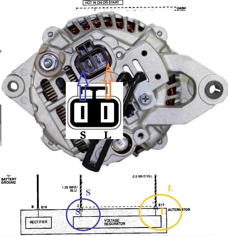 92 hyundai excel alternator question ~ connector | hyundai forums  hyundai forums