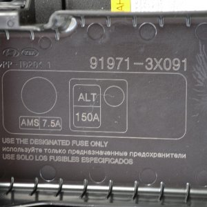 Battery pos pole cover labeling